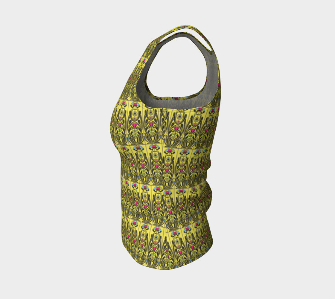 Yellow Nouveau Fitted Tank Top Miniature #4