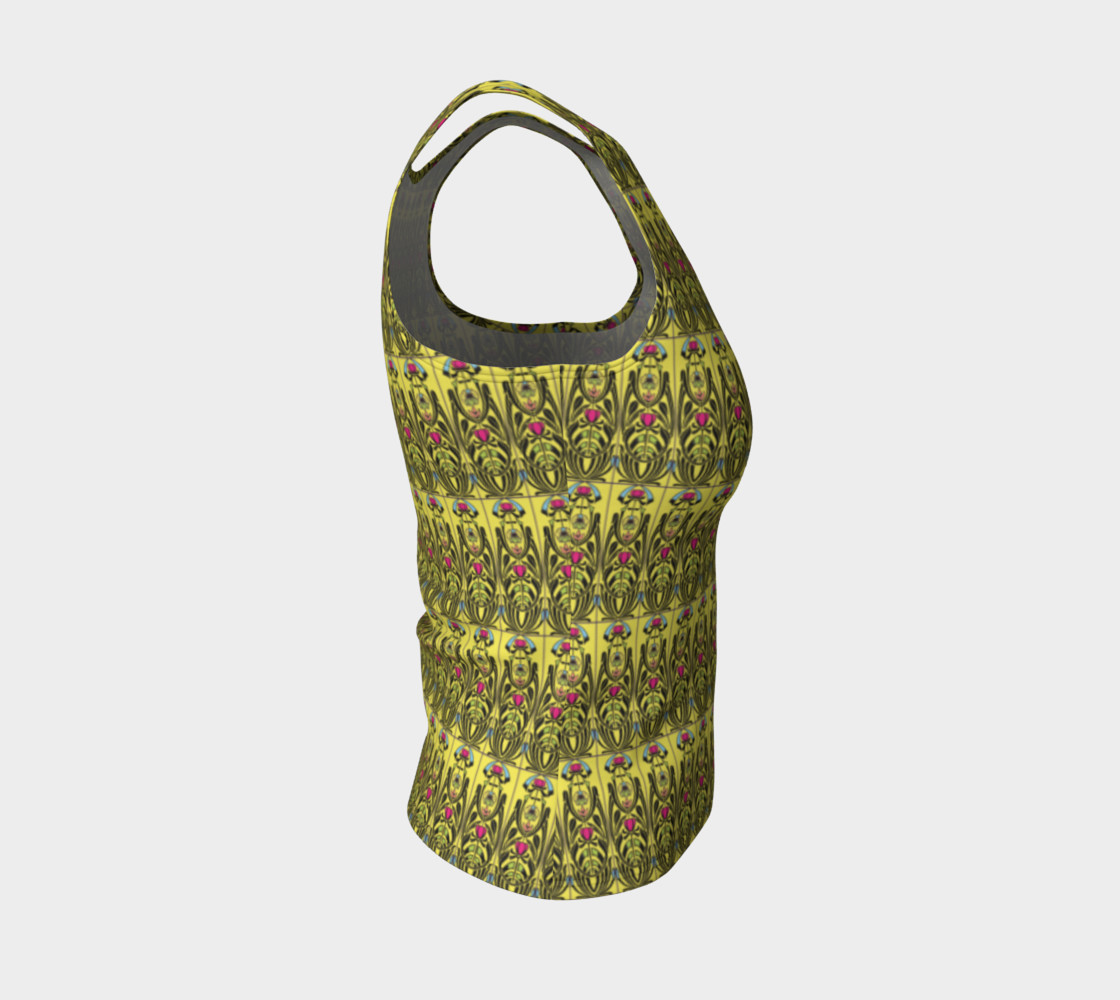 Yellow Nouveau Fitted Tank Top Miniature #5