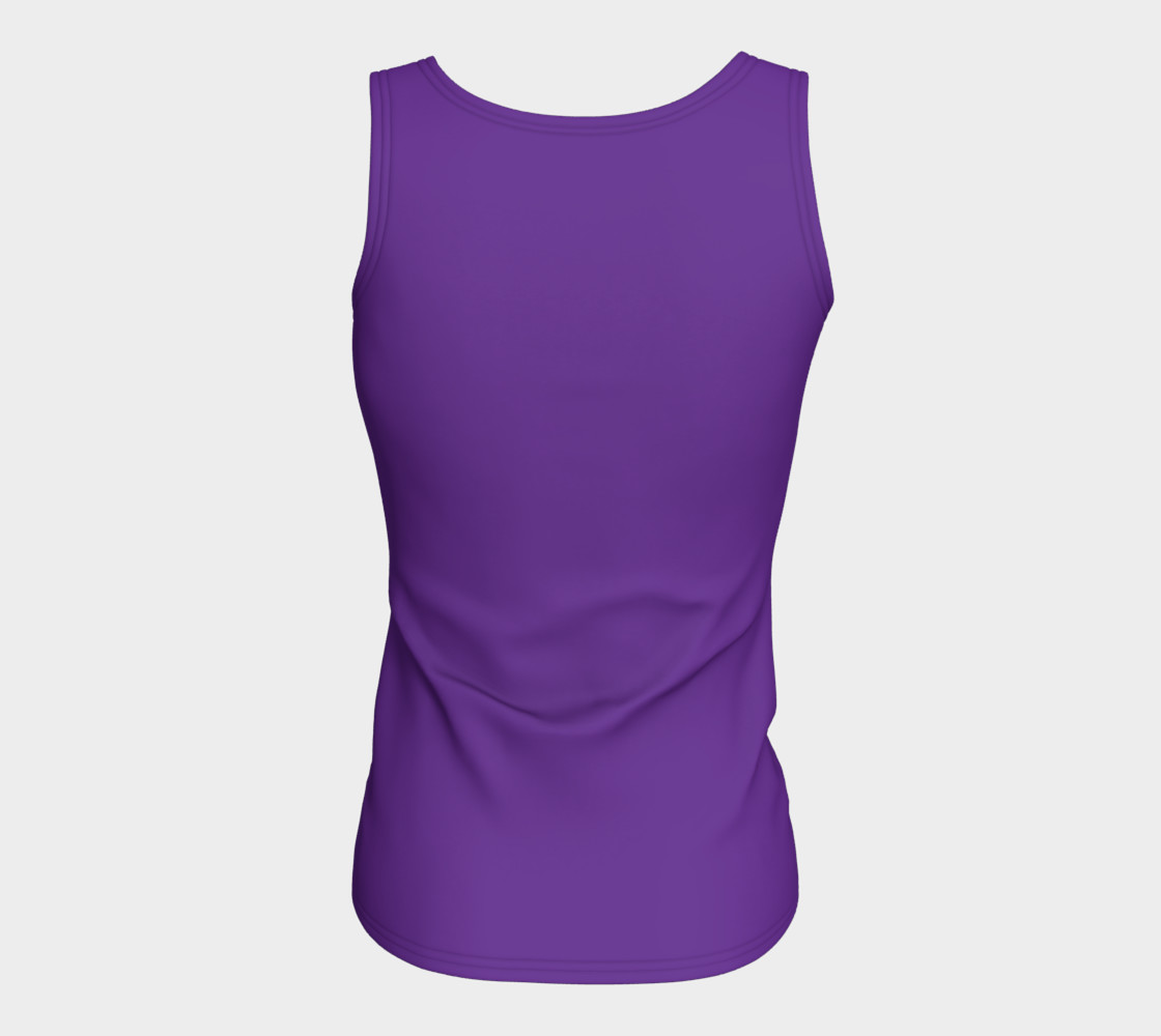 Solids Hyacinth Fitted Tank preview #6