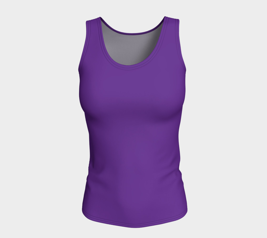 Solids Hyacinth Fitted Tank preview #5