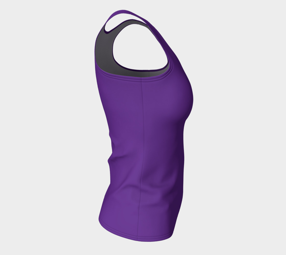 Solids Hyacinth Fitted Tank preview #8