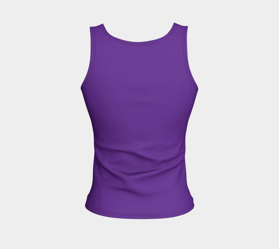 Solids Hyacinth Fitted Tank preview #2