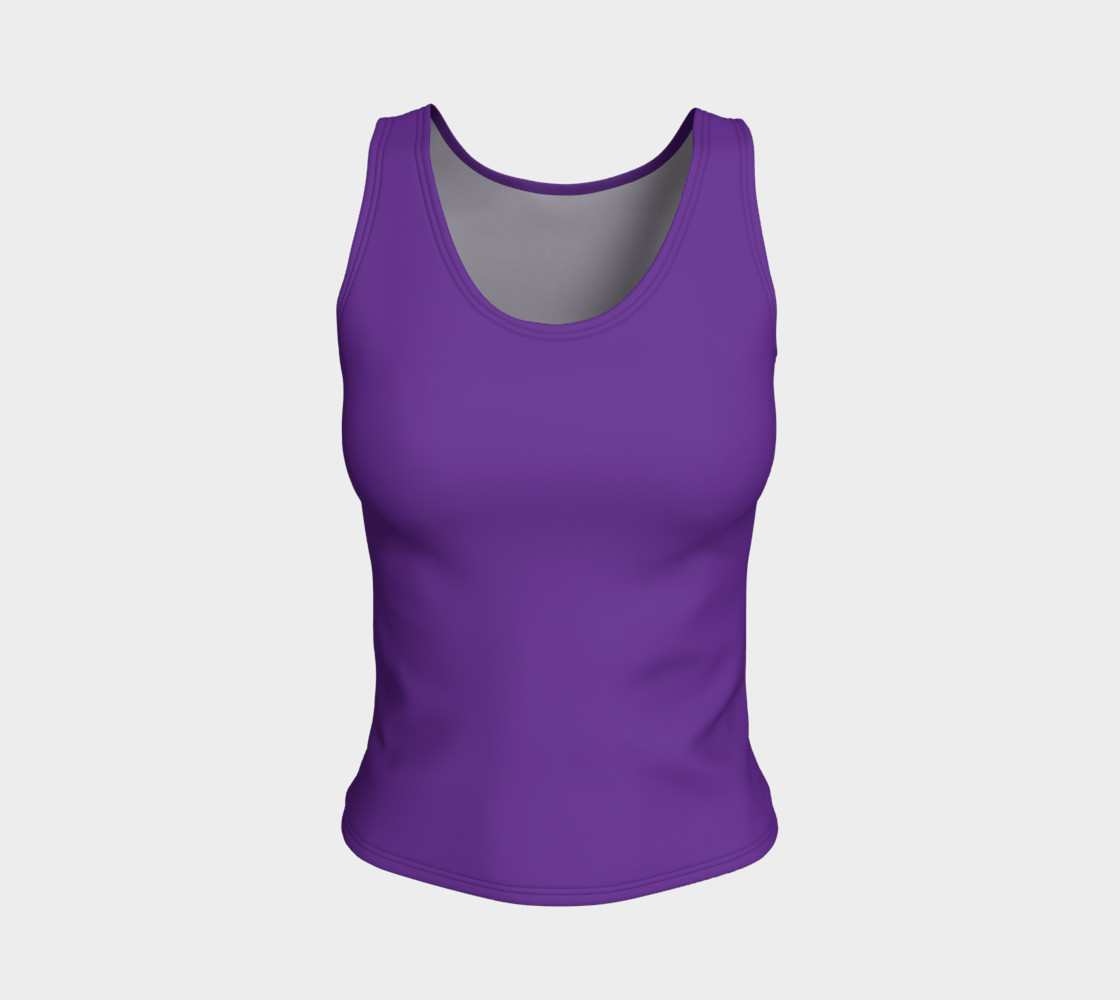 Solids Hyacinth Fitted Tank preview #1