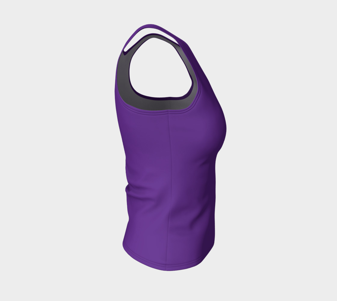 Solids Hyacinth Fitted Tank preview #4
