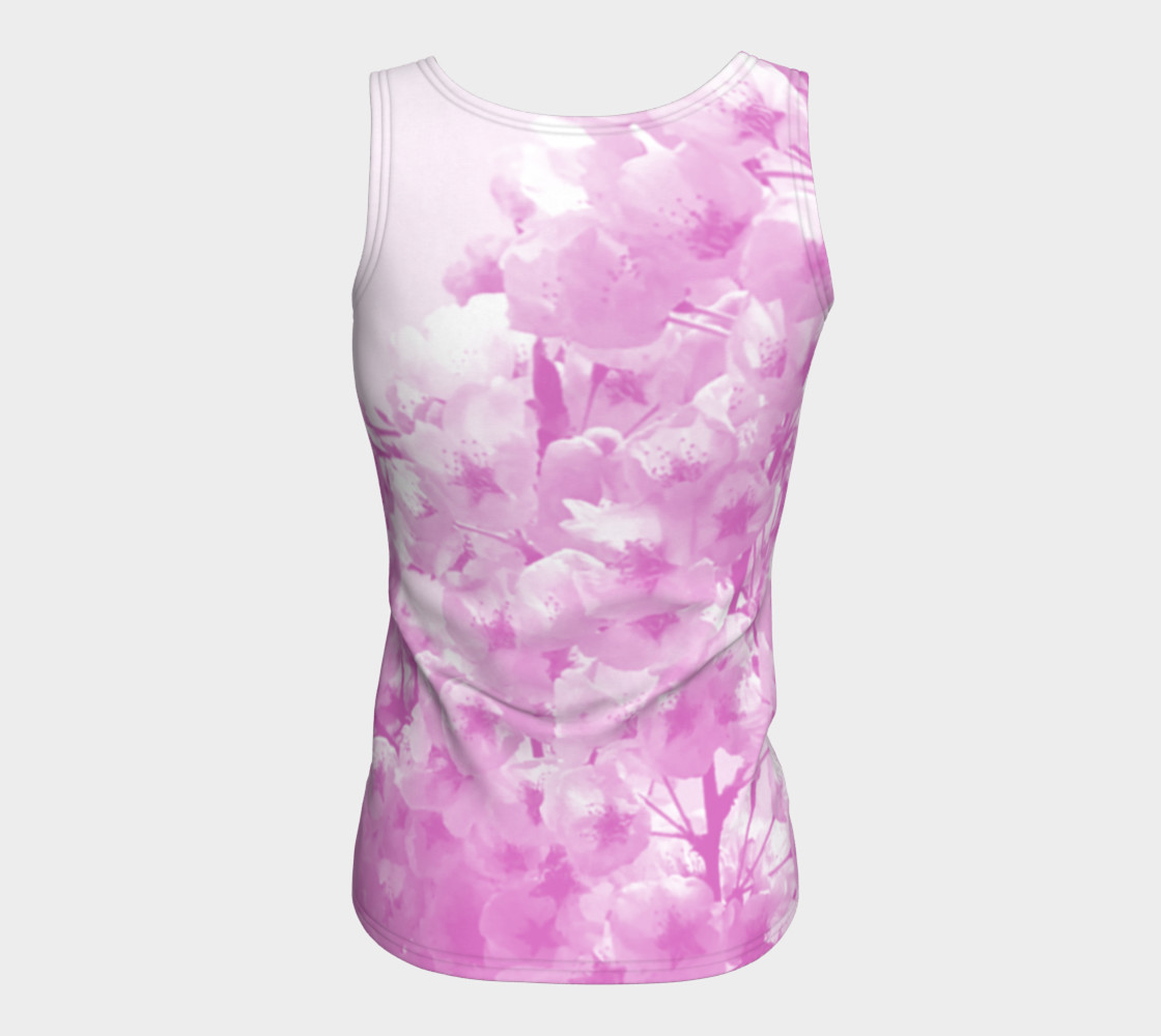 Cherry Blossom Fitted Tank Top preview #6