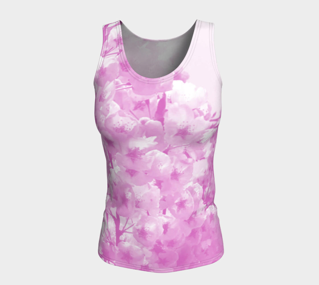 Cherry Blossom Fitted Tank Top preview #5
