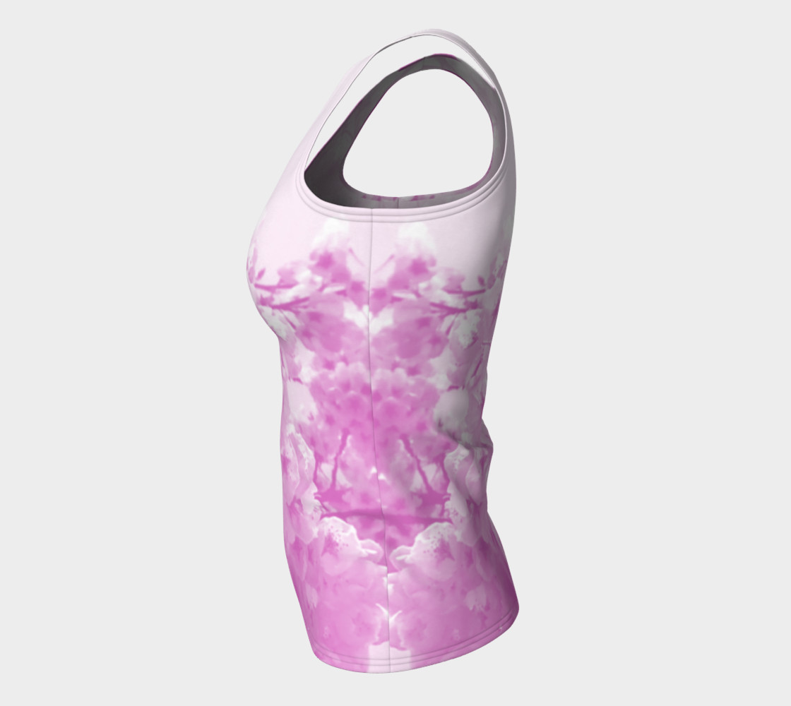 Cherry Blossom Fitted Tank Top preview #7