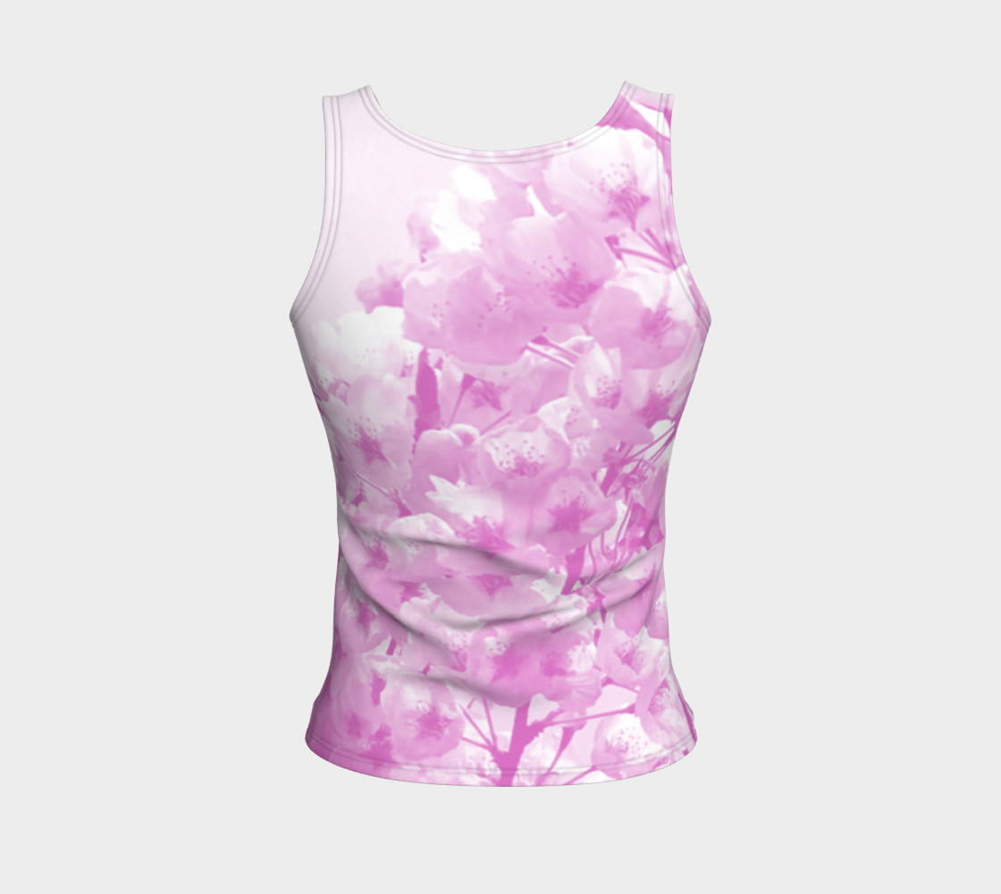 Cherry Blossom Fitted Tank Top preview #2
