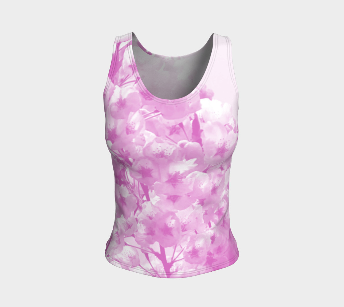 Cherry Blossom Fitted Tank Top preview #1