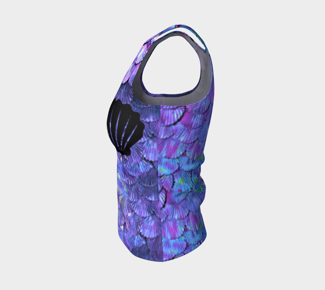 Purple Shell Mermaid Scale Tank Top preview #3