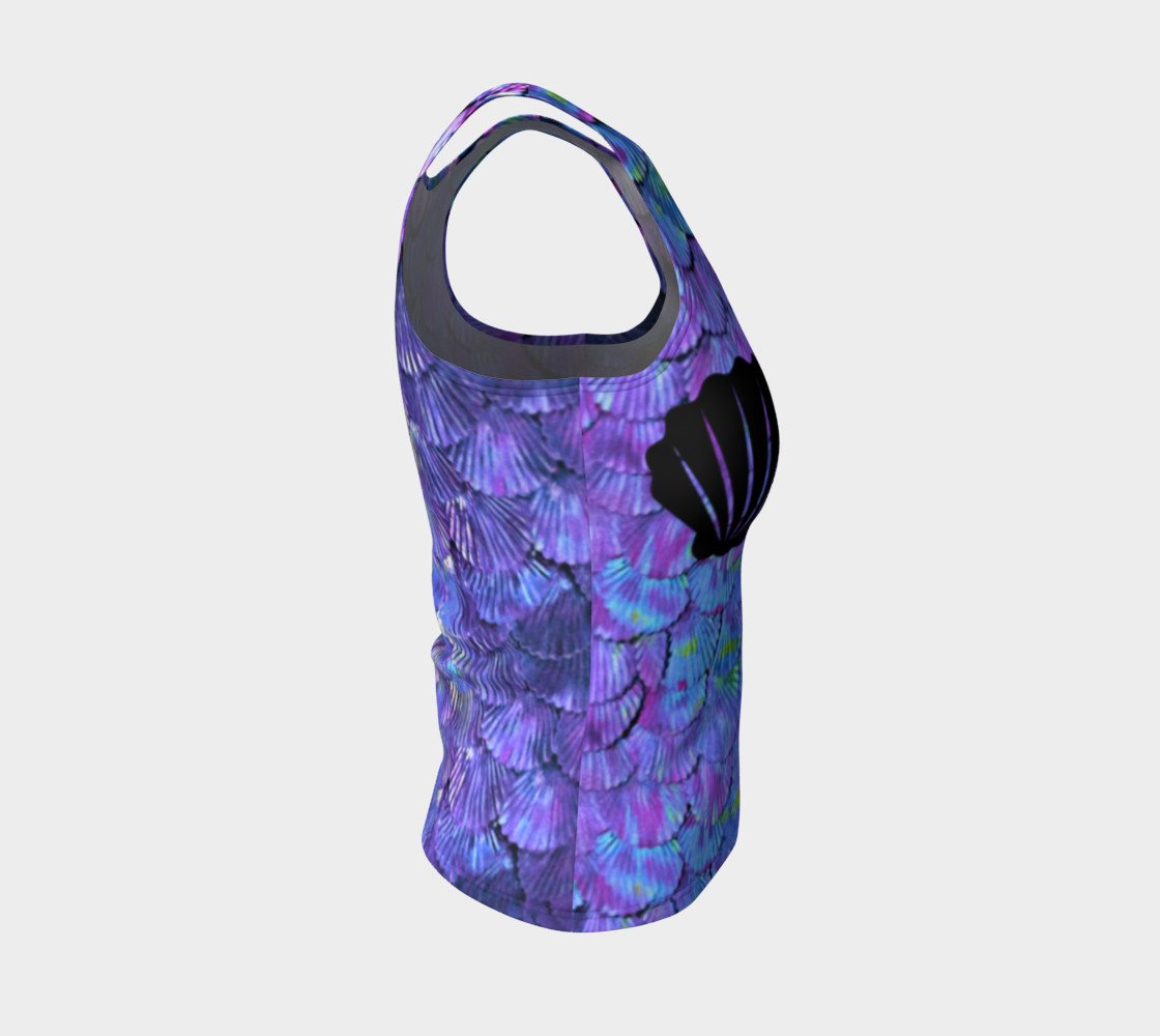 Purple Shell Mermaid Scale Tank Top preview #4