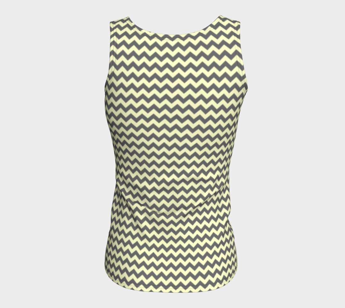 GREY & LINEN CHEVRON FITTED TANK TOP preview #6