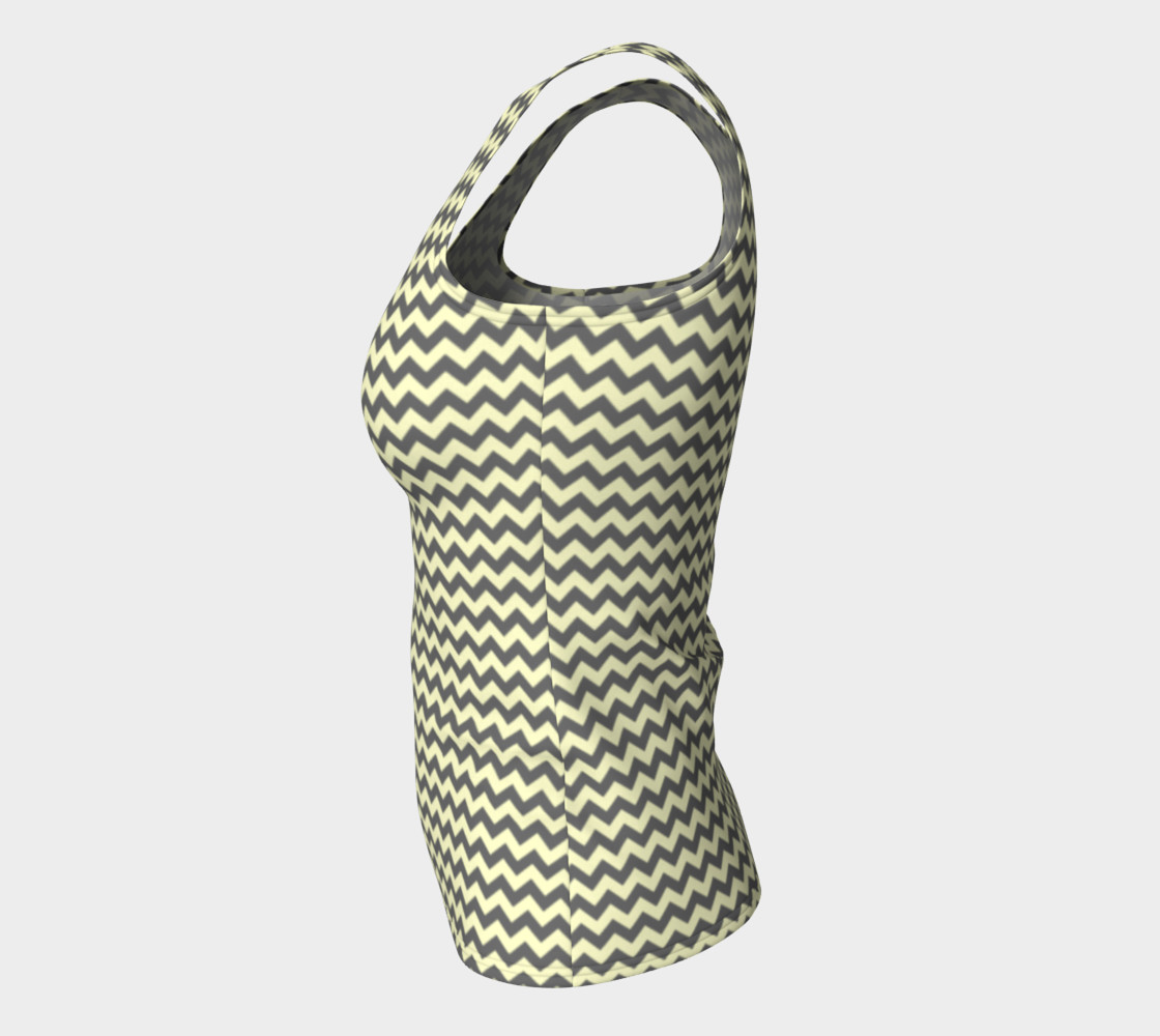 GREY & LINEN CHEVRON FITTED TANK TOP preview #7