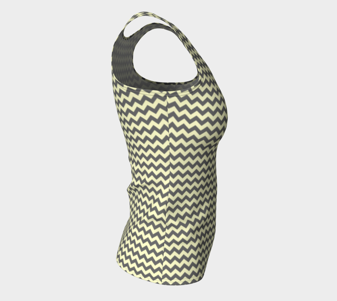 GREY & LINEN CHEVRON FITTED TANK TOP preview #8