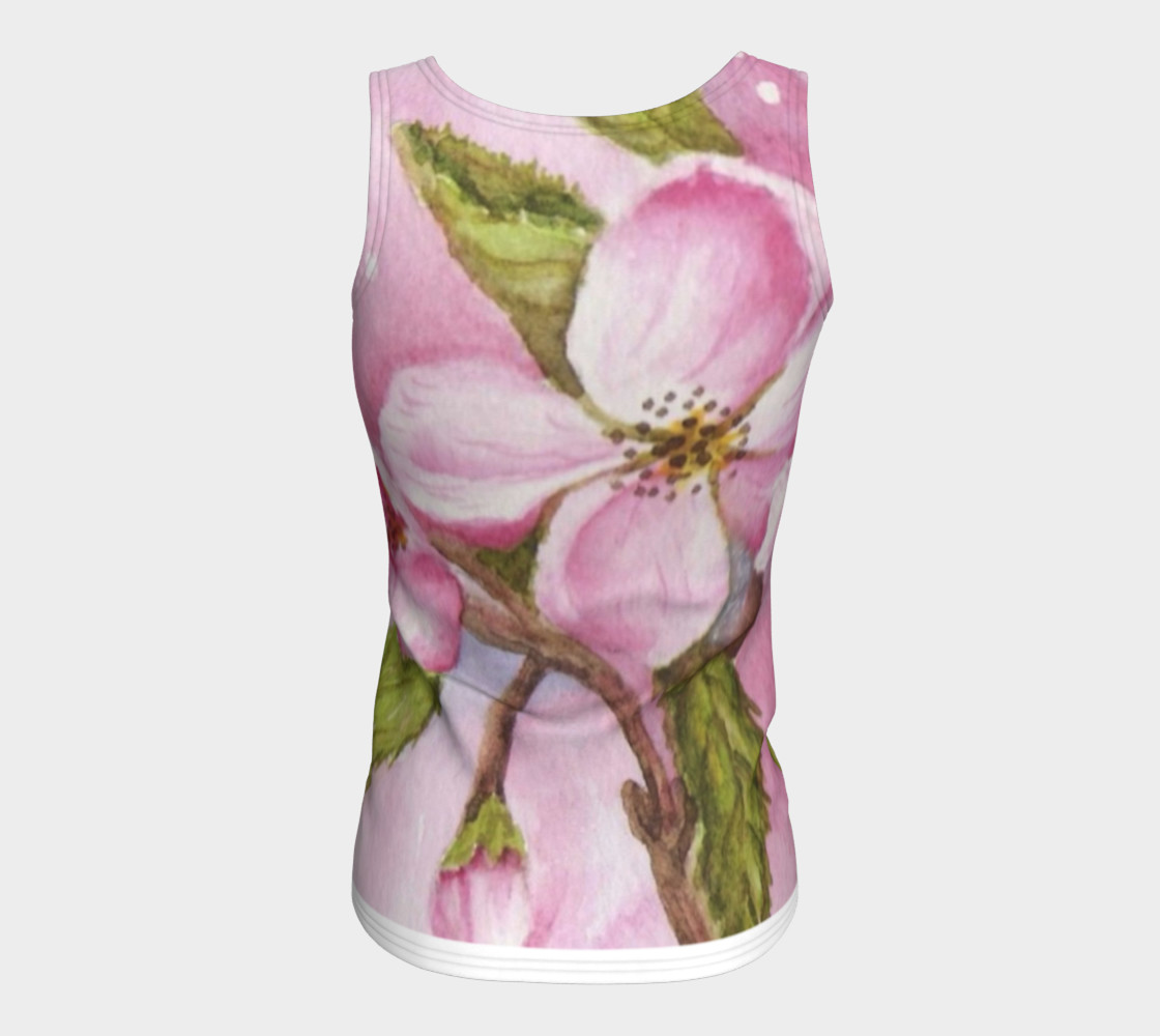 Watercolor Pink Apple Blossom Flowers preview #6