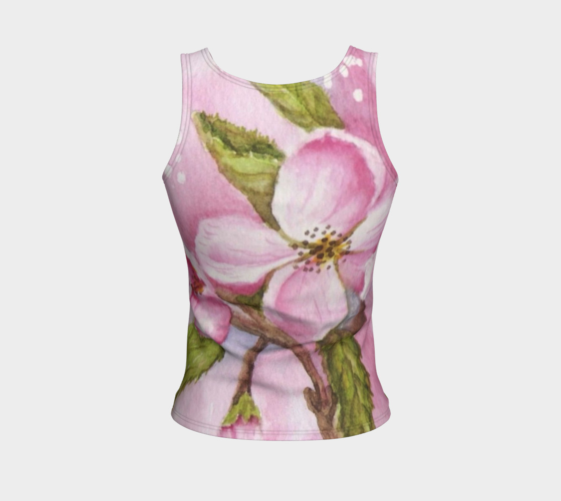 Watercolor Pink Apple Blossom Flowers preview #2