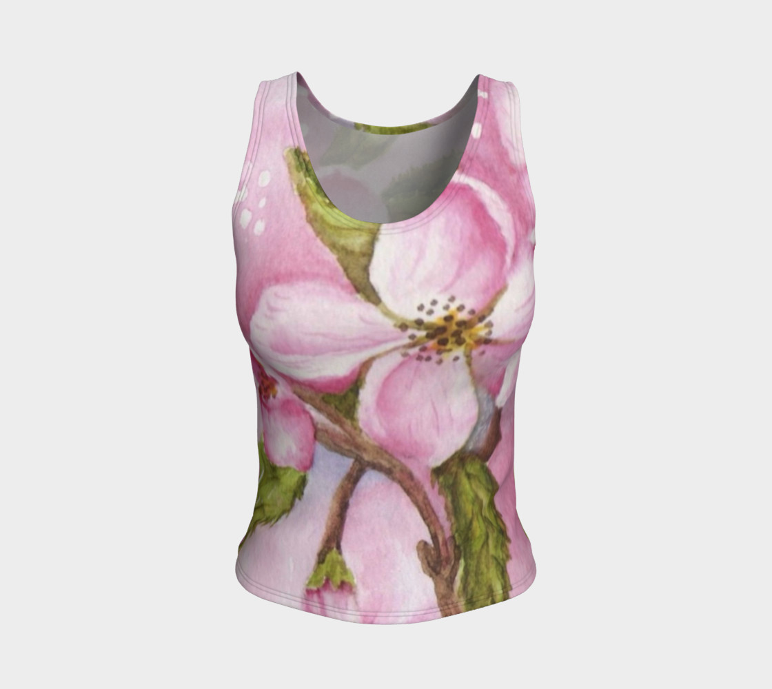 Watercolor Pink Apple Blossom Flowers preview #1