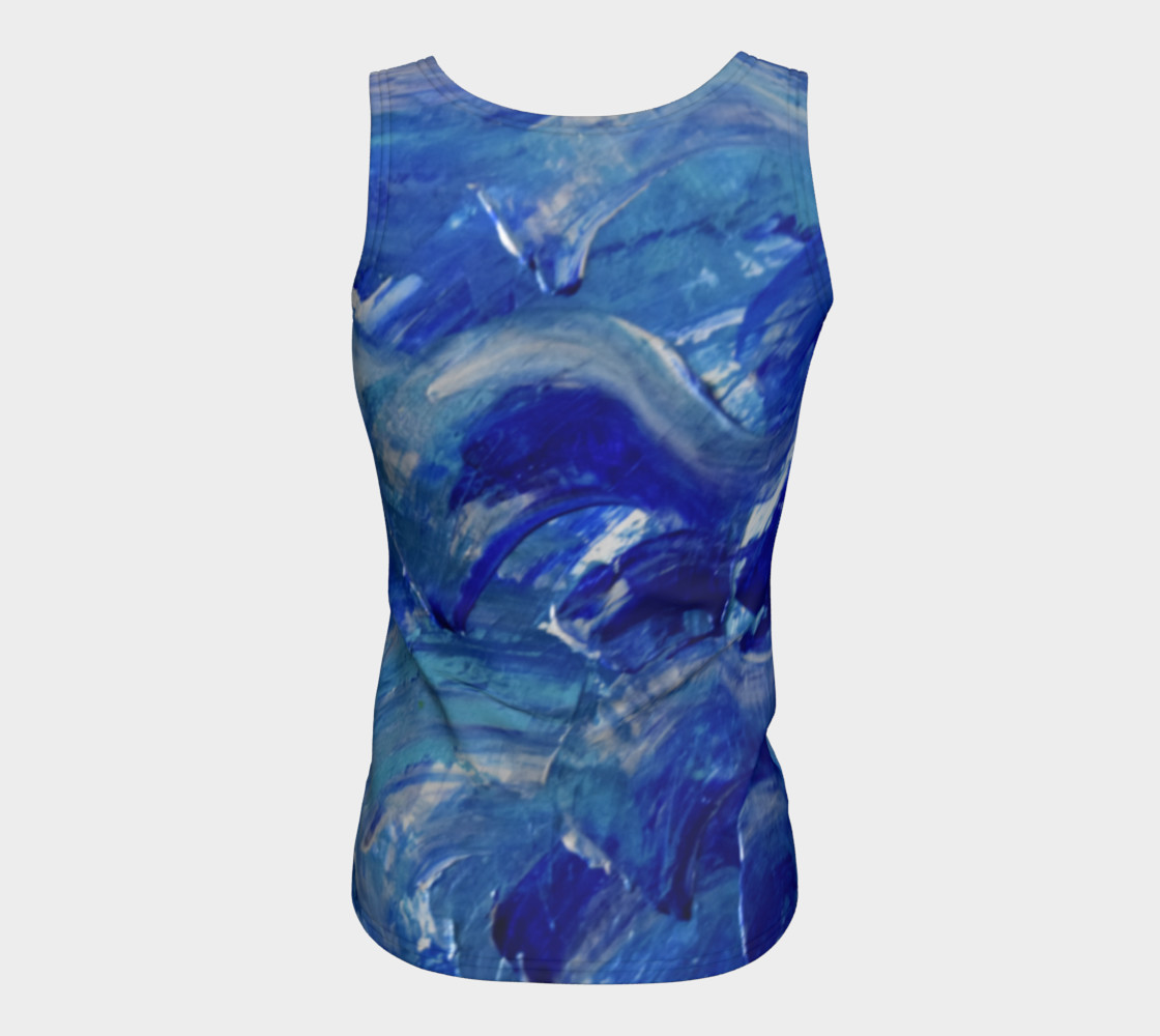 Blue Swoosh Fitted Top by Janet Gervers preview #6