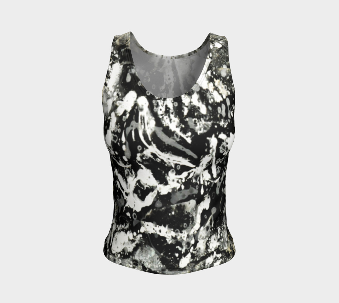 Matt LeBlanc Art Fitted Tank Top - Design 004 3D preview
