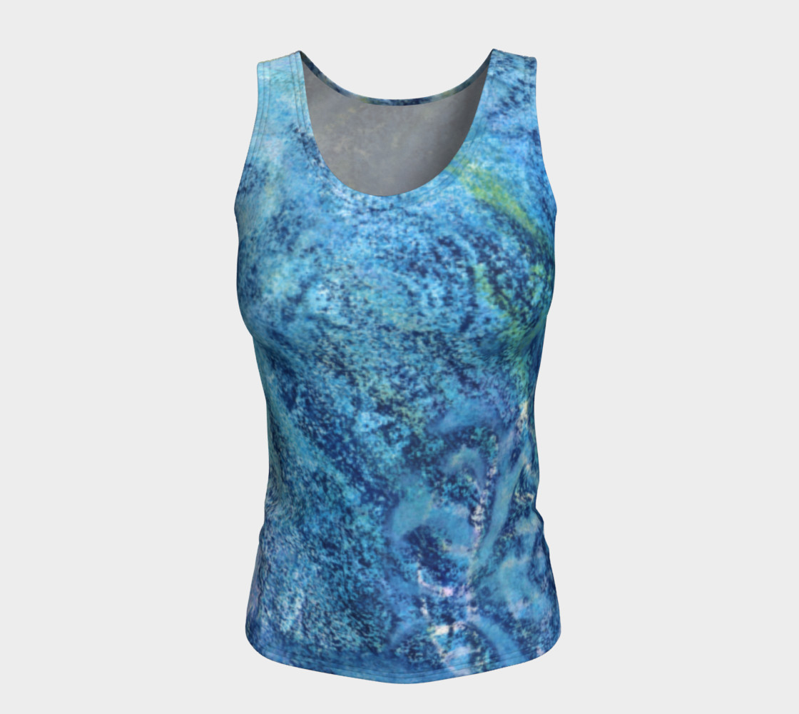 Gathering Blue Fitted Tank preview #5