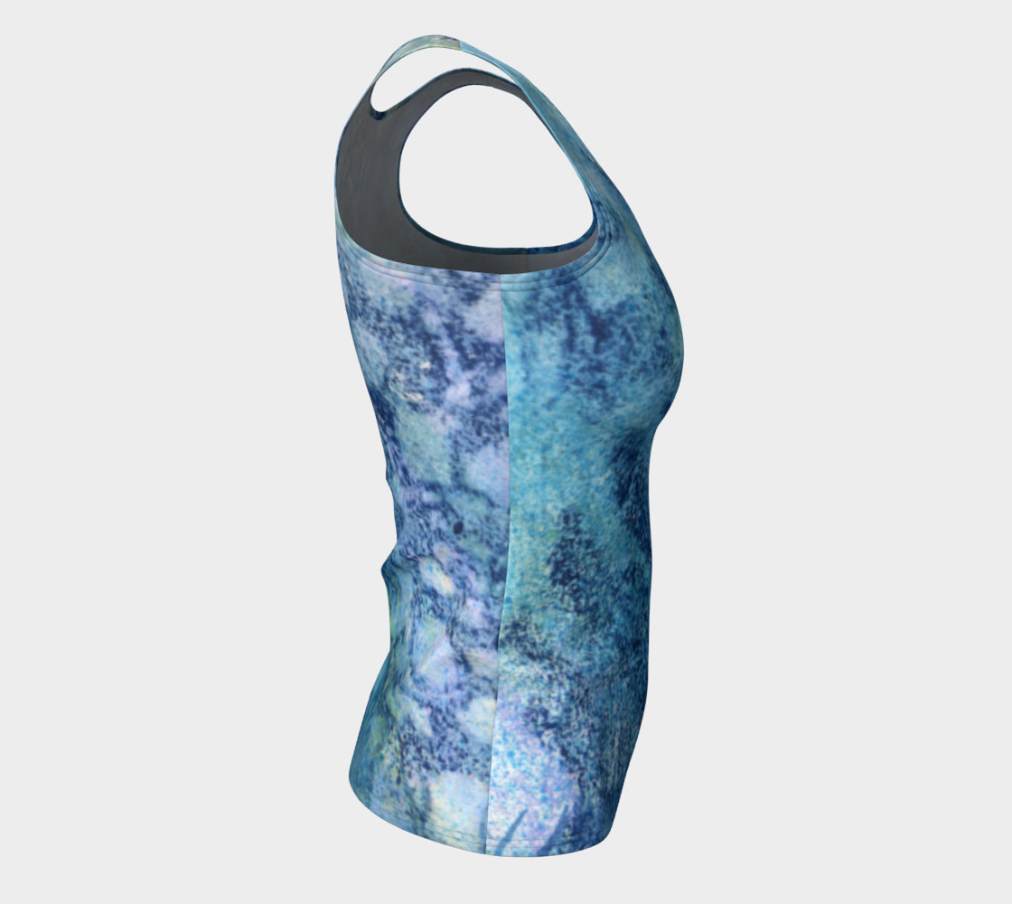Gathering Blue Fitted Tank preview #8