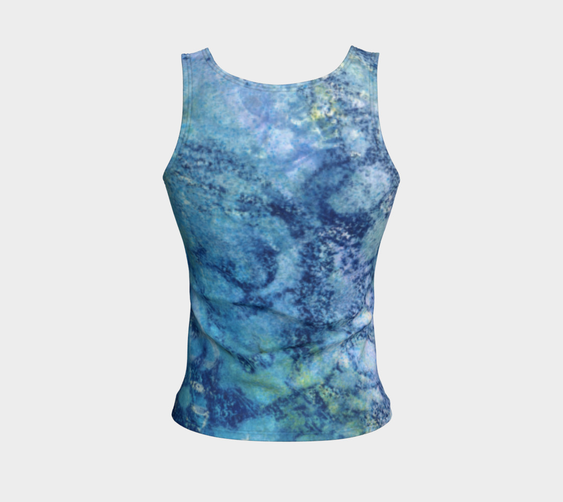 Gathering Blue Fitted Tank preview #2