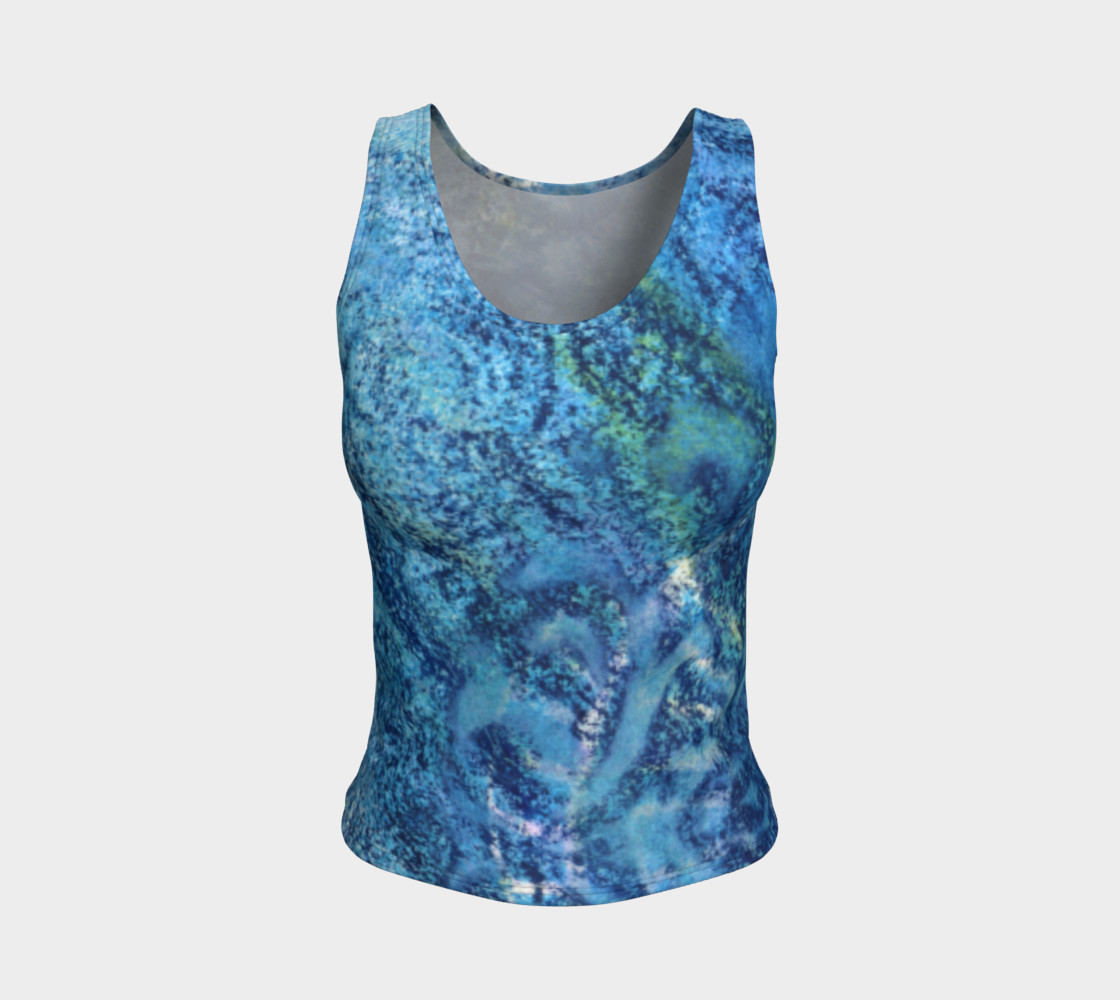 Gathering Blue Fitted Tank preview #1