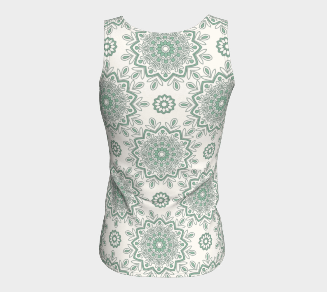Mystic Mandala Green Fitted Tank Top preview #6