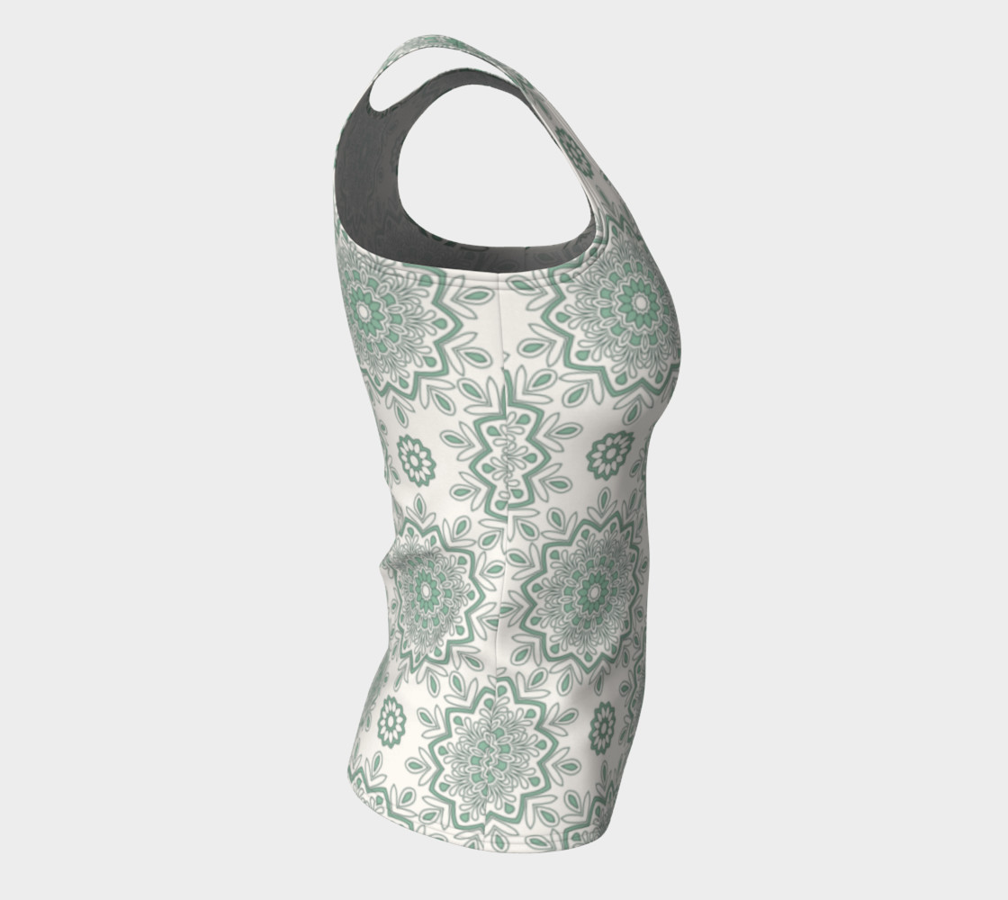 Mystic Mandala Green Fitted Tank Top preview #8