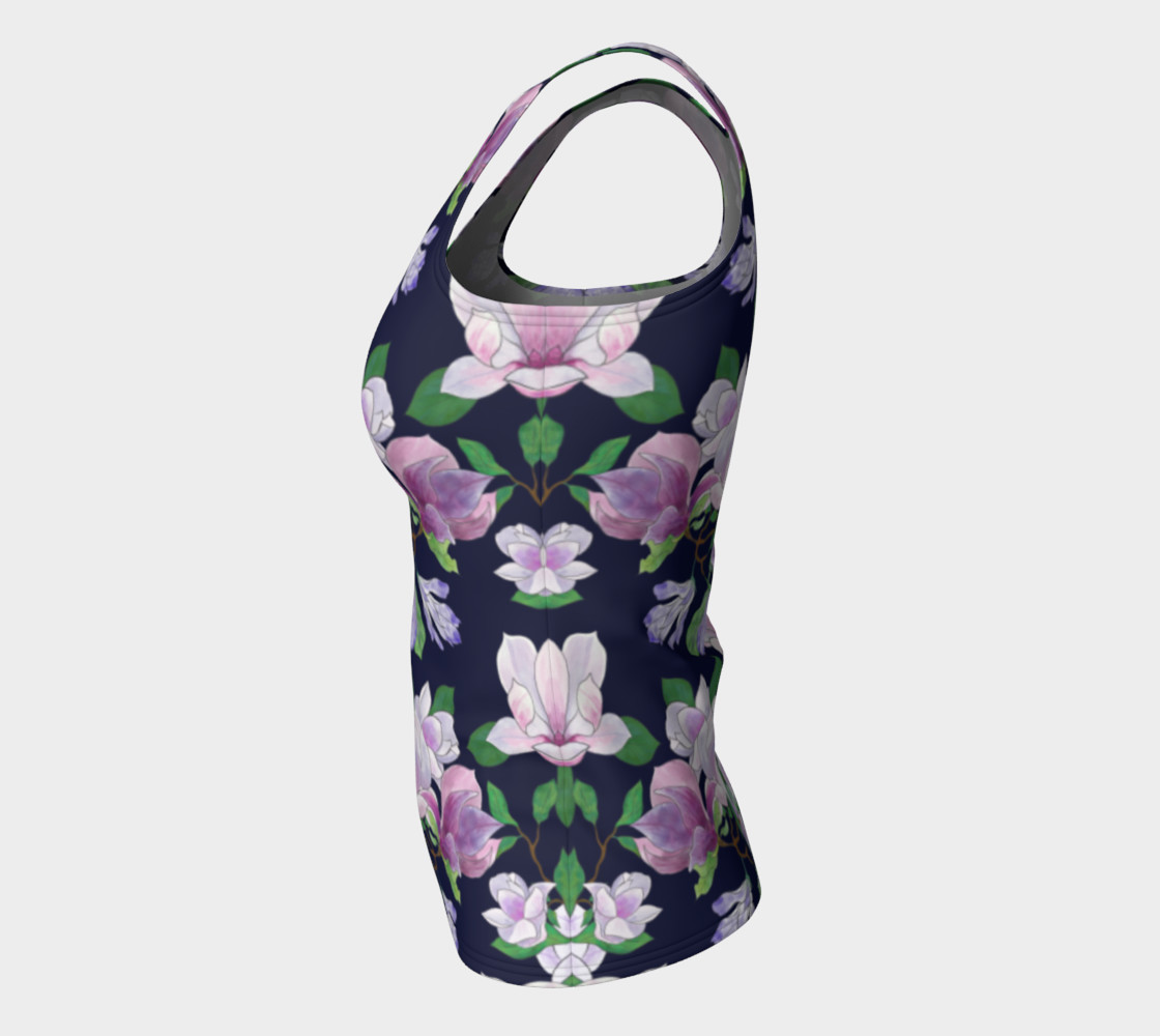 Magnolia Floral Frenzy Fitted Tank Top preview #7