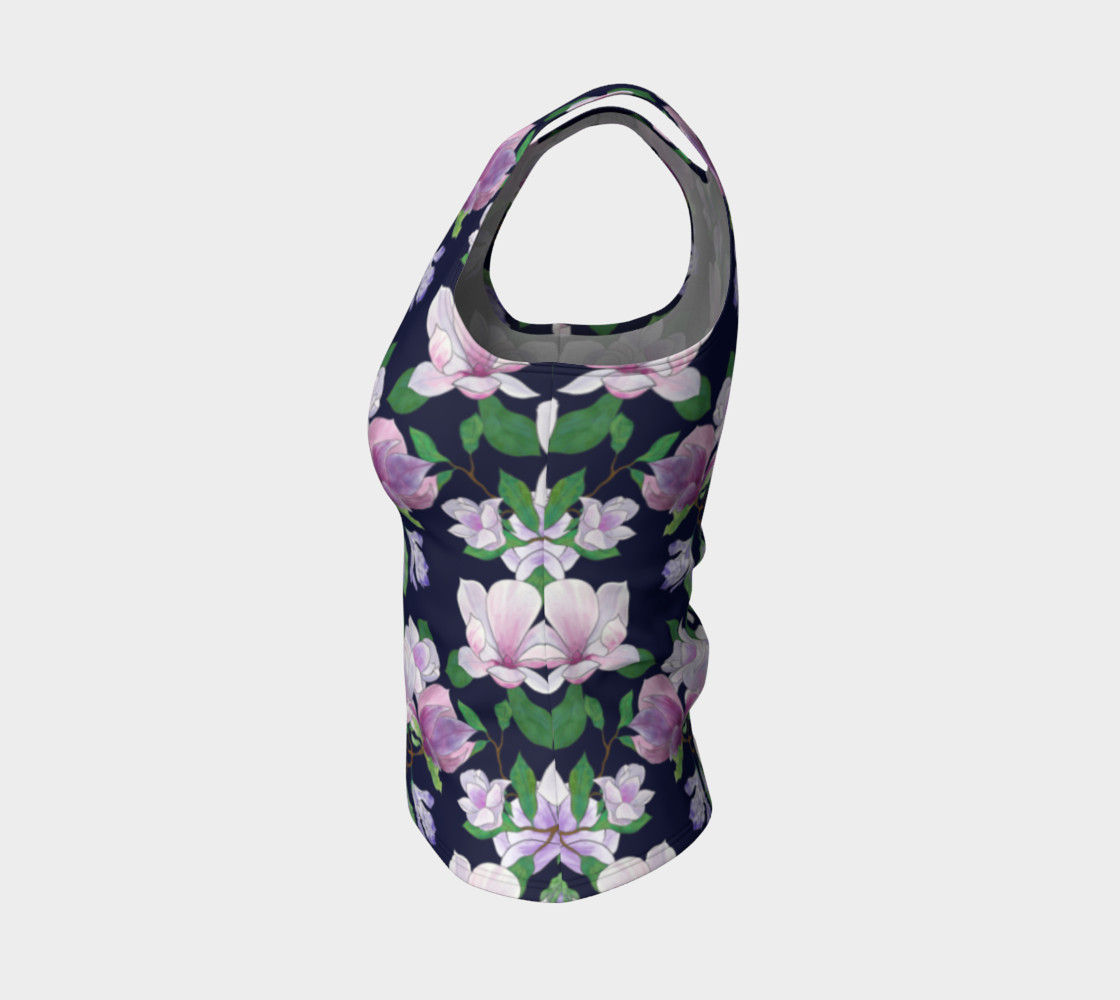 Magnolia Floral Frenzy Fitted Tank Top preview #3