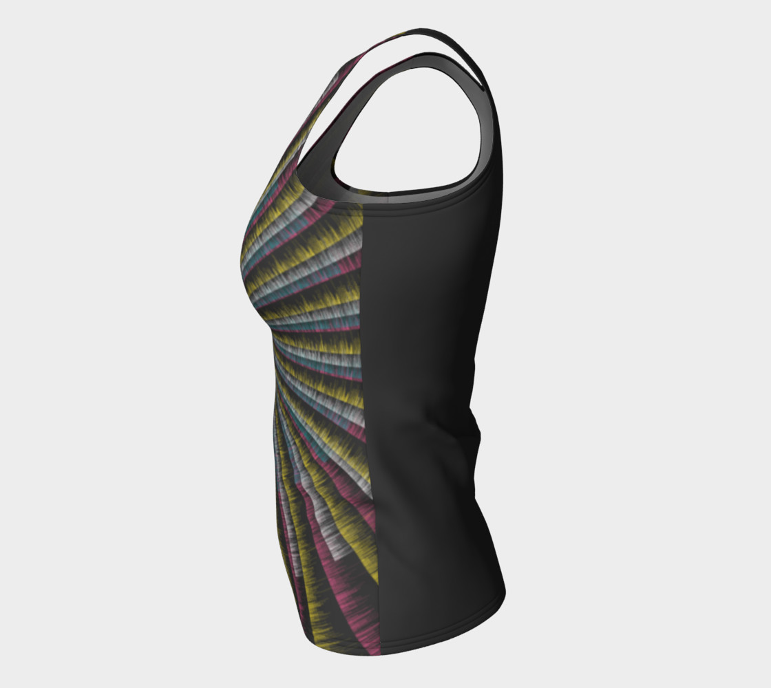 Trippy Tunnel Fitted Tank Top preview #7