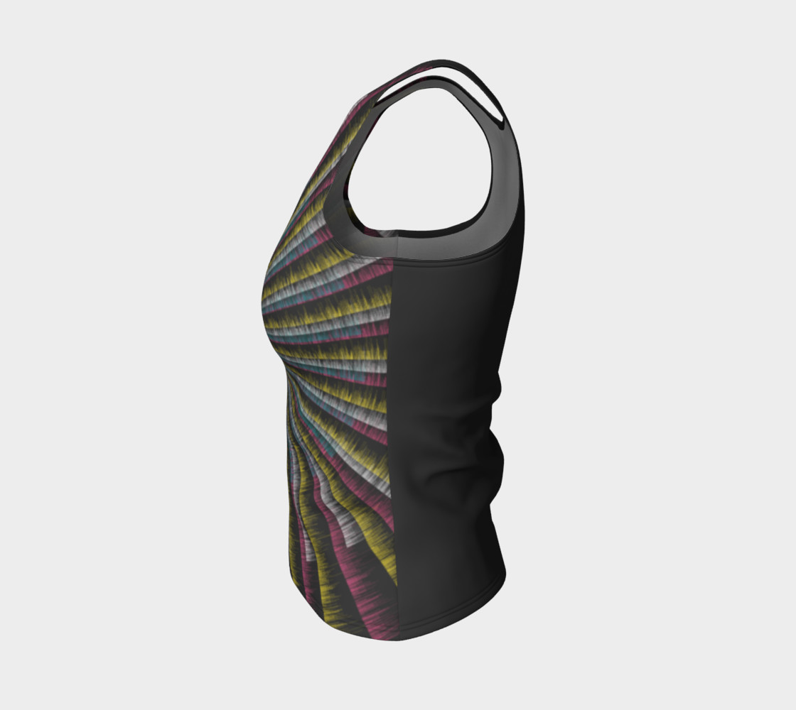 Trippy Tunnel Fitted Tank Top preview #3