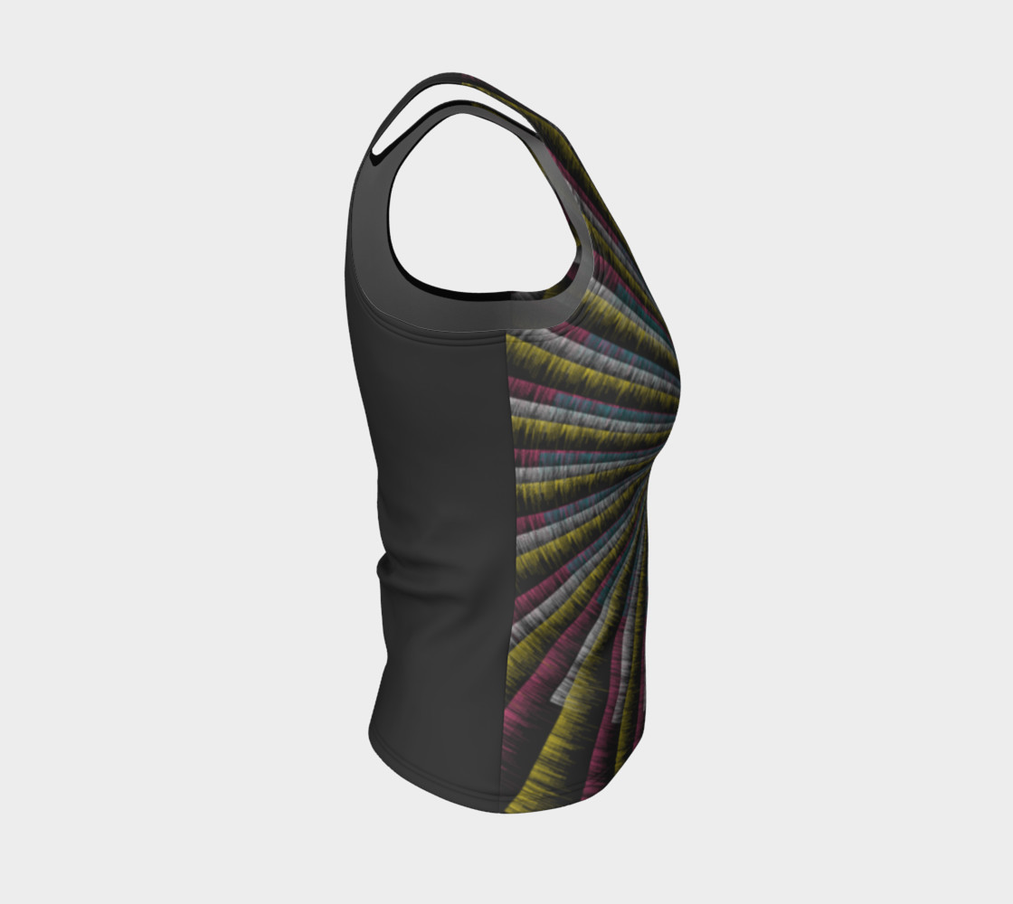 Trippy Tunnel Fitted Tank Top preview #4