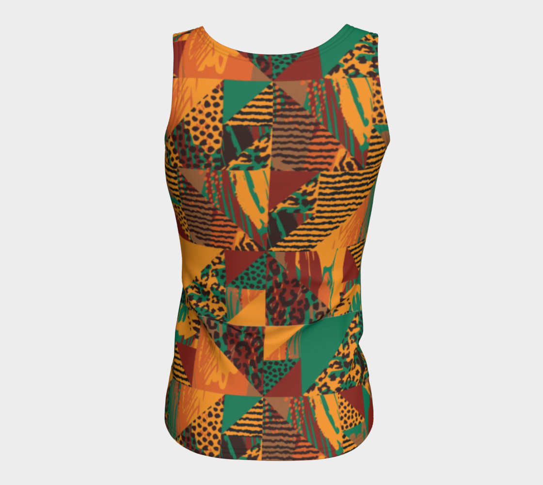 Abstract Safari Print Fitted Tank Top preview #6