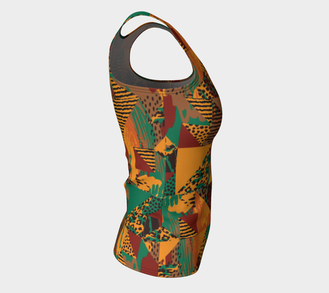 Abstract Safari Print Fitted Tank Top preview #8
