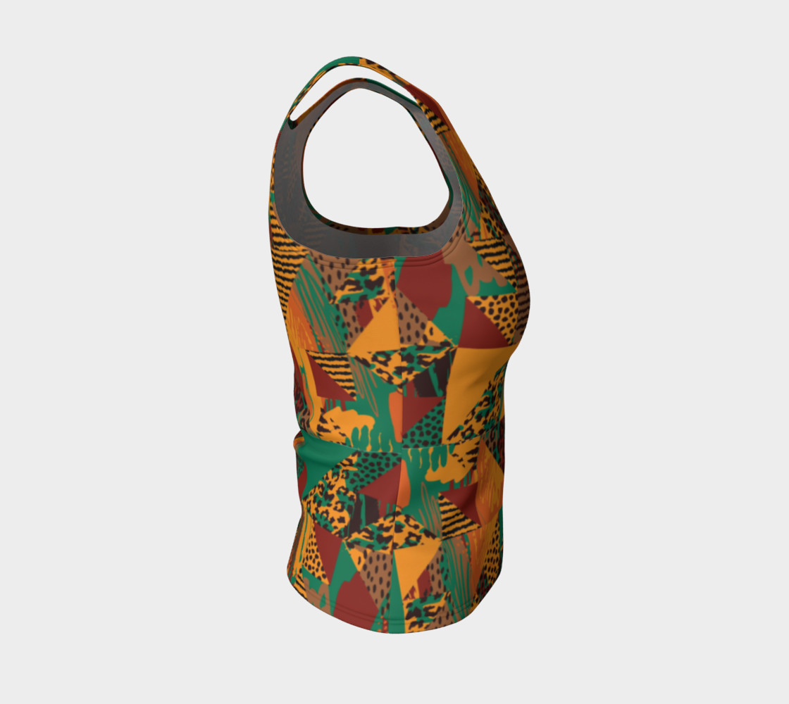 Abstract Safari Print Fitted Tank Top preview #4