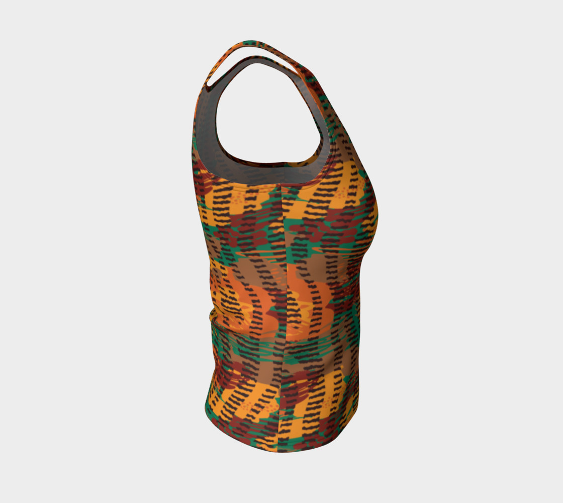 Abstract Animal Stripes Fitted Tank Top preview #4