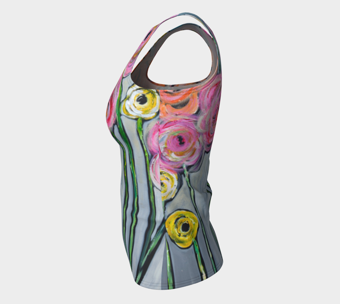 NM floral athletic tank top Miniature #8
