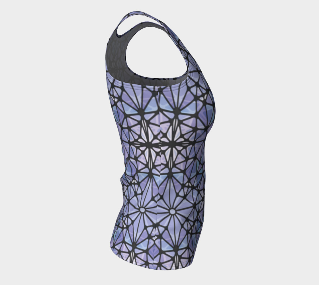 Purple and Blue Kaleidoscope Fitted Tank Top preview #8