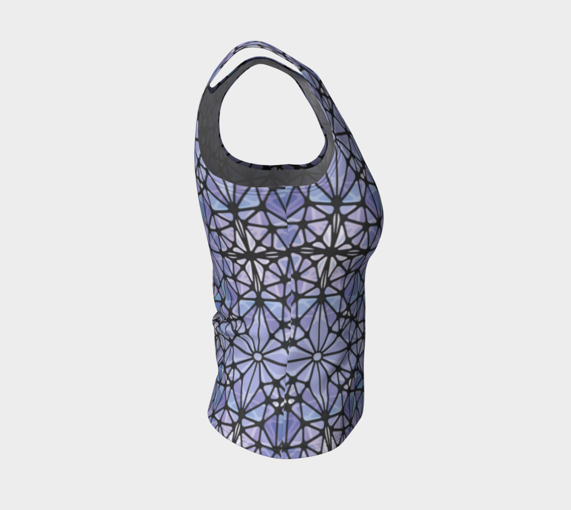 Purple and Blue Kaleidoscope Fitted Tank Top preview #4