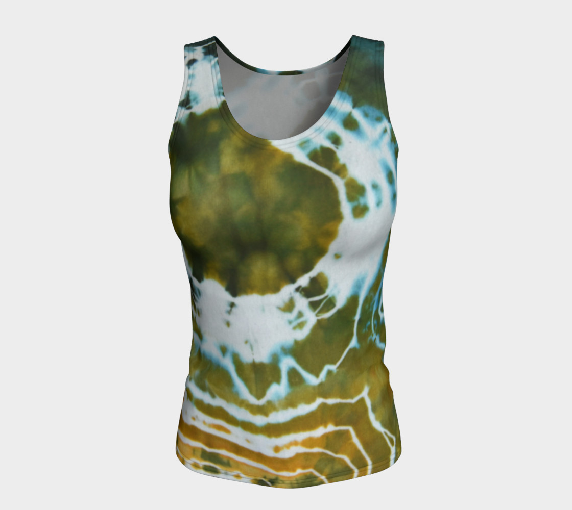 Green Geode Fitted Tank preview #5