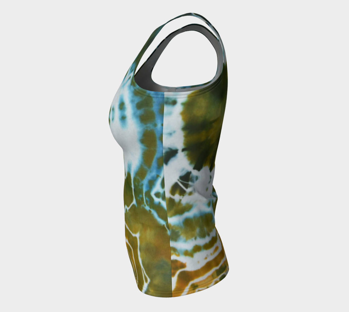 Green Geode Fitted Tank preview #7