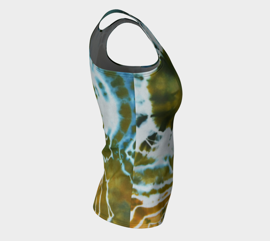 Green Geode Fitted Tank preview #8