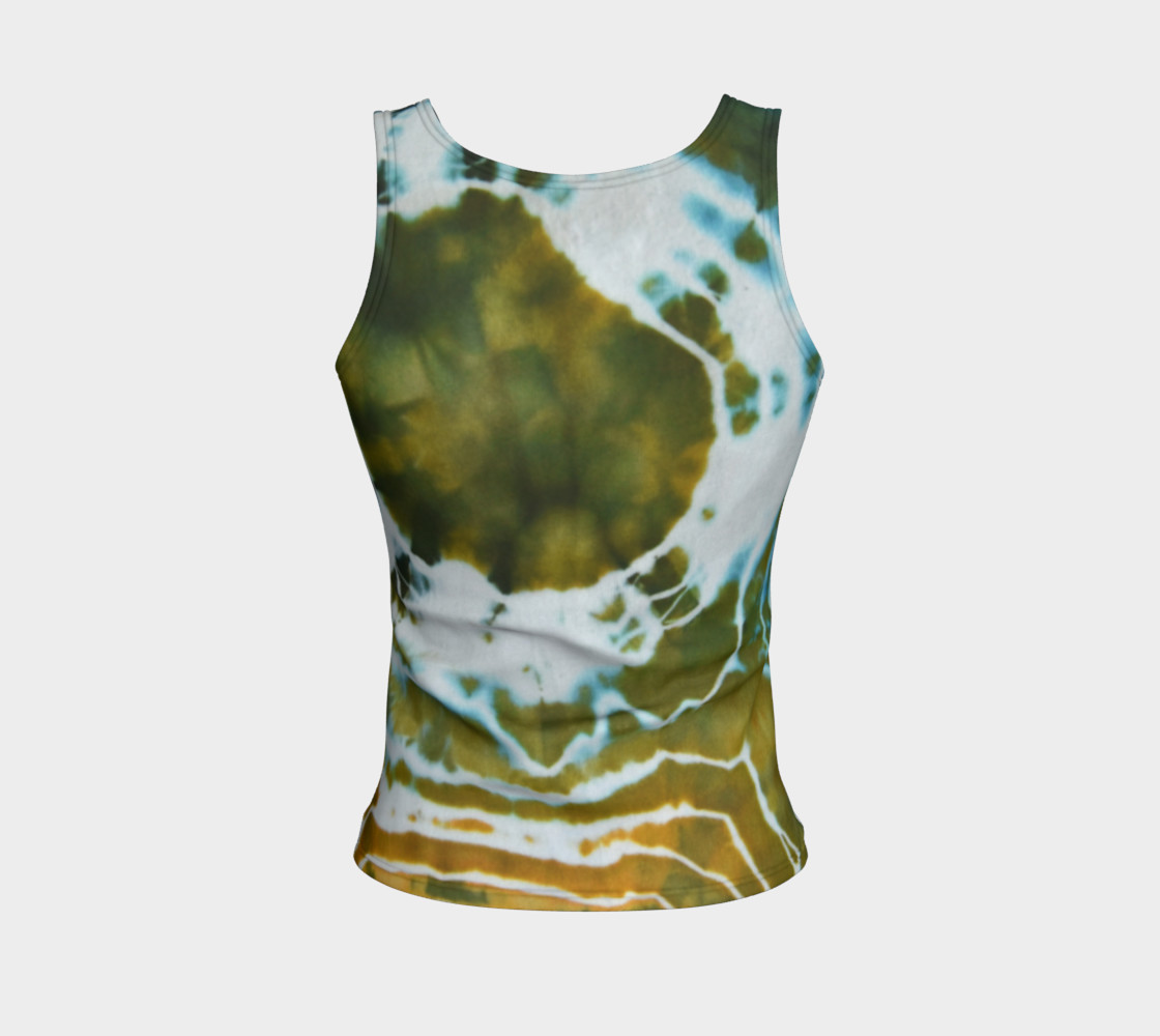 Green Geode Fitted Tank preview #2