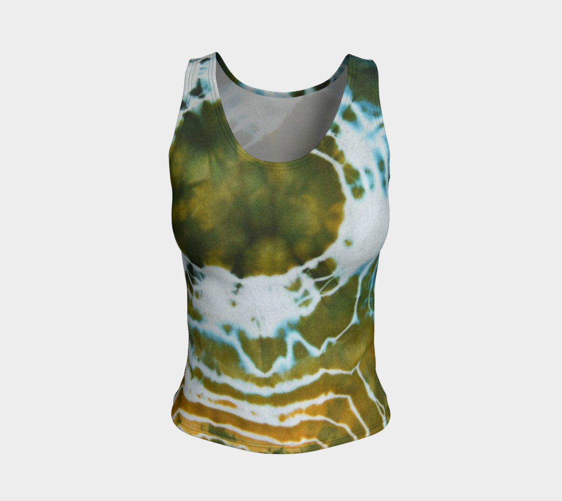 Green Geode Fitted Tank preview #1