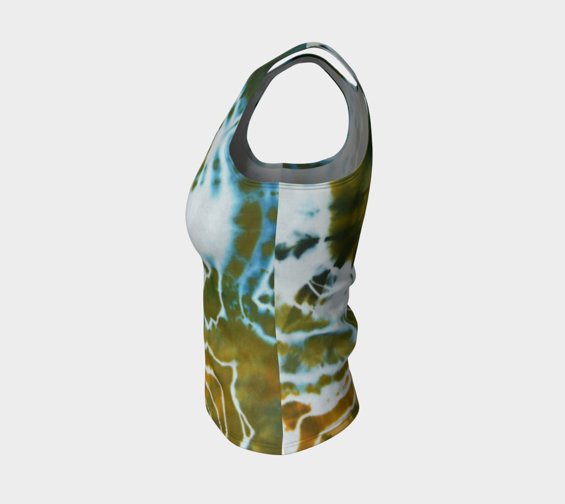 Green Geode Fitted Tank preview #3