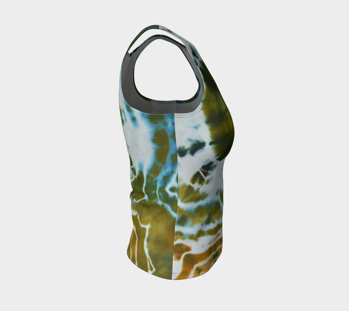Green Geode Fitted Tank preview #4