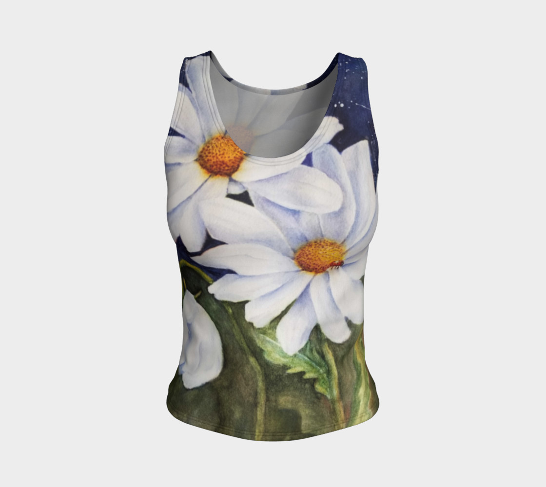 Classic White Daisies Tank Top preview #1