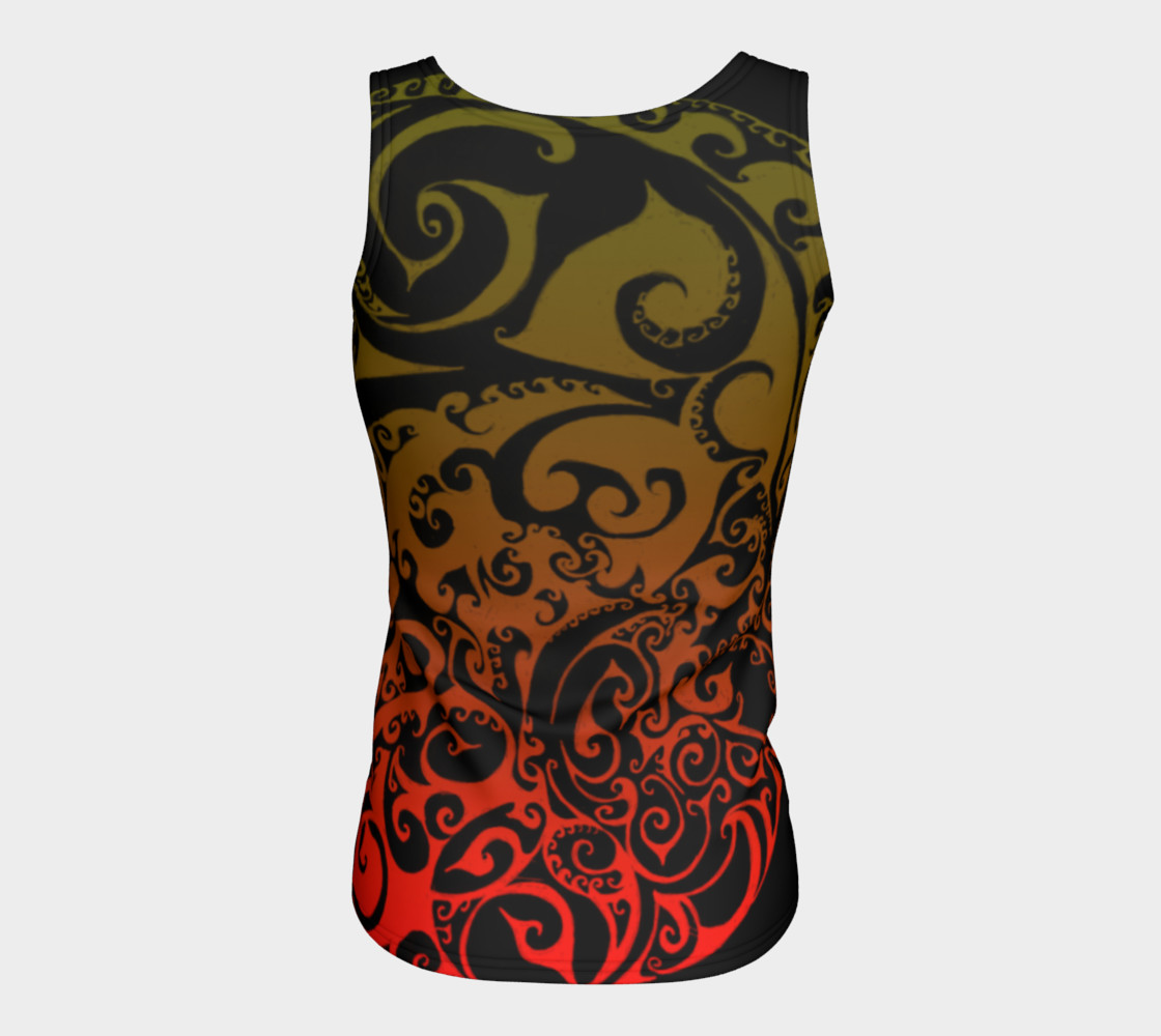 Autumnal Ombre Celtic Spiral Tank Top preview #6